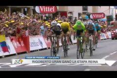 Literalmente, 'Rigo' Urán ganó 'por un pelo'. Revive la victoria del colombiano… ¡En la etapa reina del Tour!