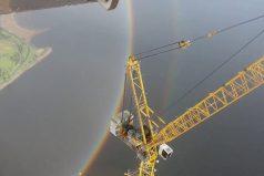 El sorprendente video desde una grúa que prueba que los arcoiris… ¡En realidad son círculos!