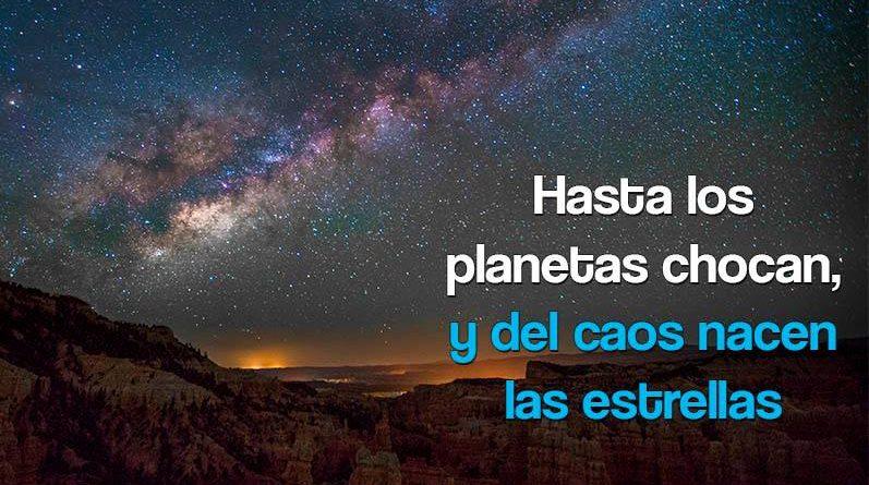 Imagen de un cielo estrellado