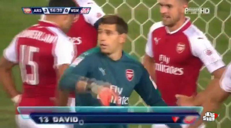 Arsenal-armó-peculiar-barrera-en-tiro-libre