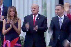 ¡Eso es carácter! La Primera Dama de Polonia dejó a Donald Trump con la mano estirada… ¡Mira la cara del mandatario!