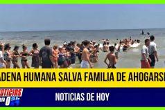 ¡La unión hace la fuerza! Una cadena humana de 80 personas salva a una familia de morir ahogada en La Florida