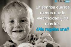 La sonrisa cuesta menos que la electricidad y da más luz
