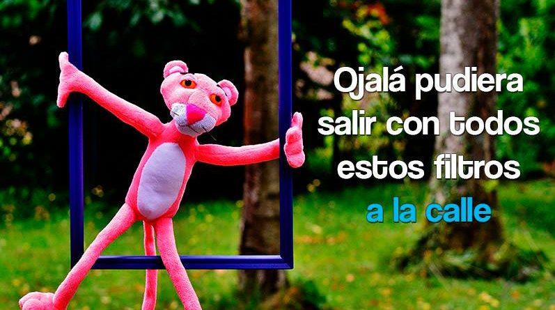 Pantera rosa en el jardín