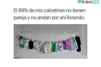 El 99% de mis calcetines no tiene pareja…