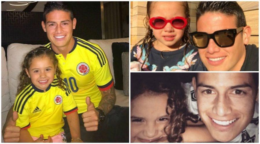 Así fue el reencuentro de James con su hija, ¡mucho amor!