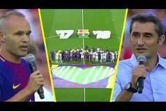 Así fue el emotivo homenaje del Barcelona al Chapecoense en el Camp Nou. ¡Força Chepe!
