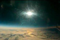 Así se vio el eclipse desde un avión ¡Increíble el video!