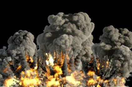 ¡Gran demolición en China! Destruyen más de 30 edificios con una explosión controlada de 2.5 toneladas de dinamita