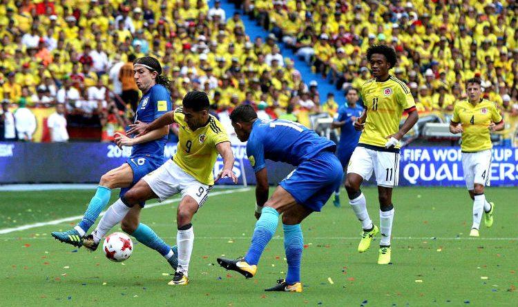 Colombia Vs Brasil, primer tiempo del encuentro por las eliminatorias