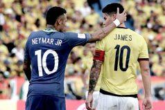 ¿Qué le reclamó James a Neymar? Se cruzaron más de una vez en el partido