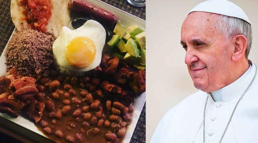¿El Papa Francisco comerá bandeja paisa en Medellín? El menú te dejará con la boca abierta