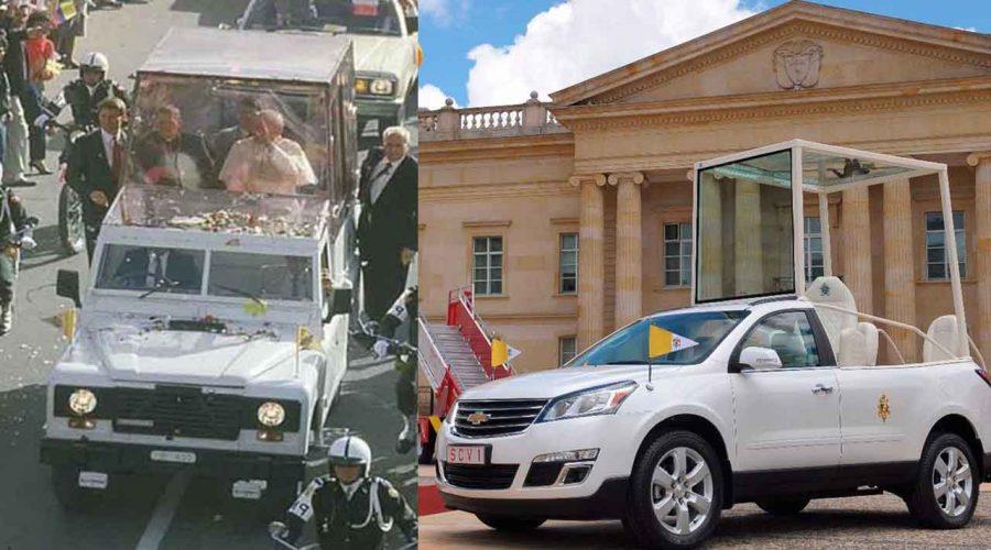 Esto pasó con el Papamóvil en la visita del Papa en 1986, ¿qué pasará con este?