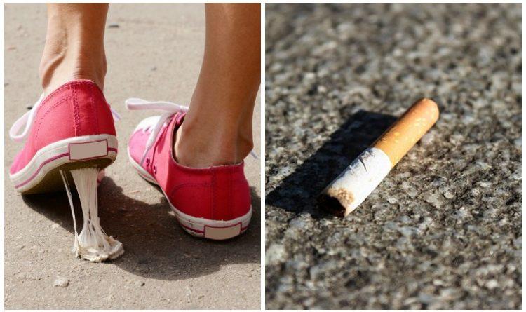 Arrojar chicles y colillas de cigarrillo a la calle tendría una multa