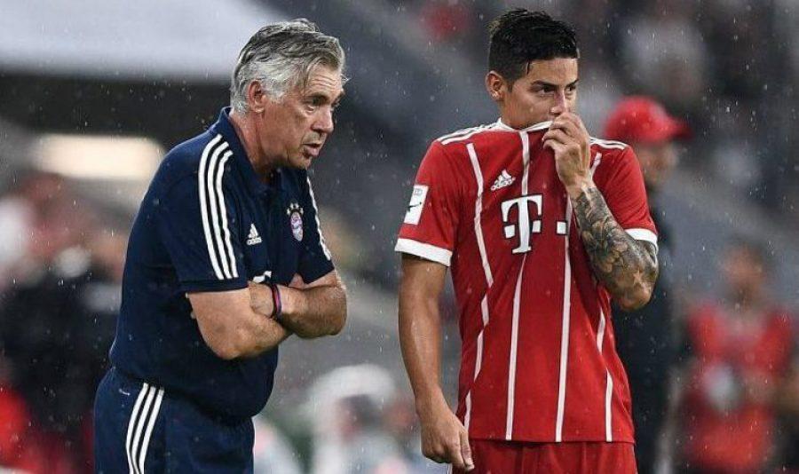 5 jugadores estaban en contra de Ancelotti. ¿Estaría James?