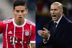Zidane, no puede superar a James Rodríguez, ¡mira su reacción!