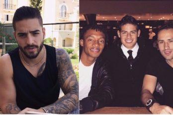 Este futbolista colombiano acompañó a Maluma en su concierto en Londres. ¡Una hermosa amistad!