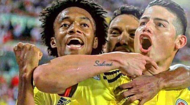 Así celebraron los jugadores de la Selección Colombia su paso al mundial de Rusia