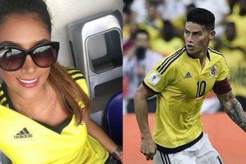 Antes del partido de Colombia Daniela mostró su verdadero amor