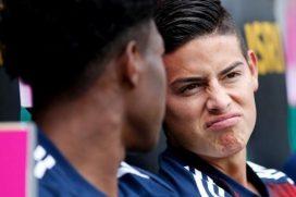 James encontró que hacer en la banca durante partido contra el Celtic