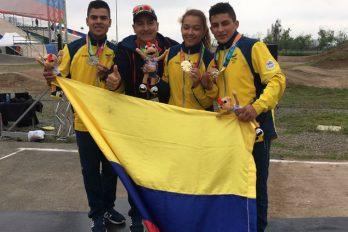 Colombia ganó dos oros en BMX en el Suramericanos de la Juventud