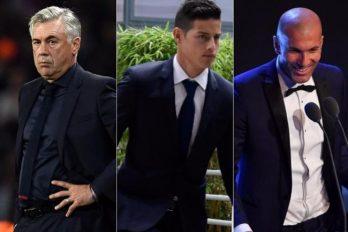 ¿Ancelotti o Zidane? Esta fue la elección de James en los premios de la FIFA