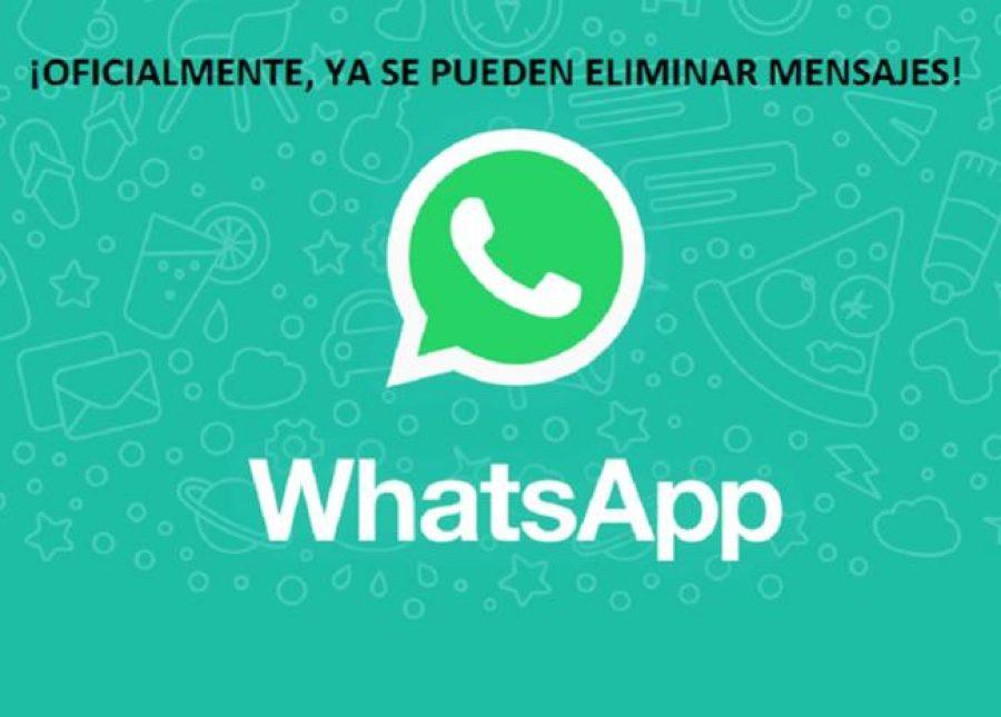 ¡Ojo! Ya se pueden borrar los mensajes de WhatsApp y aquí te decimos cómo