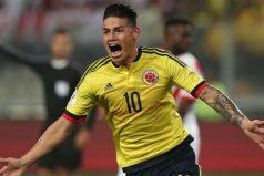 ¿Qué escribió James en camiseta de Colombia luego del partido con Perú?