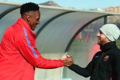 Así fue el recibimiento de Messi a Yerry Mina. ¡Emocionante!