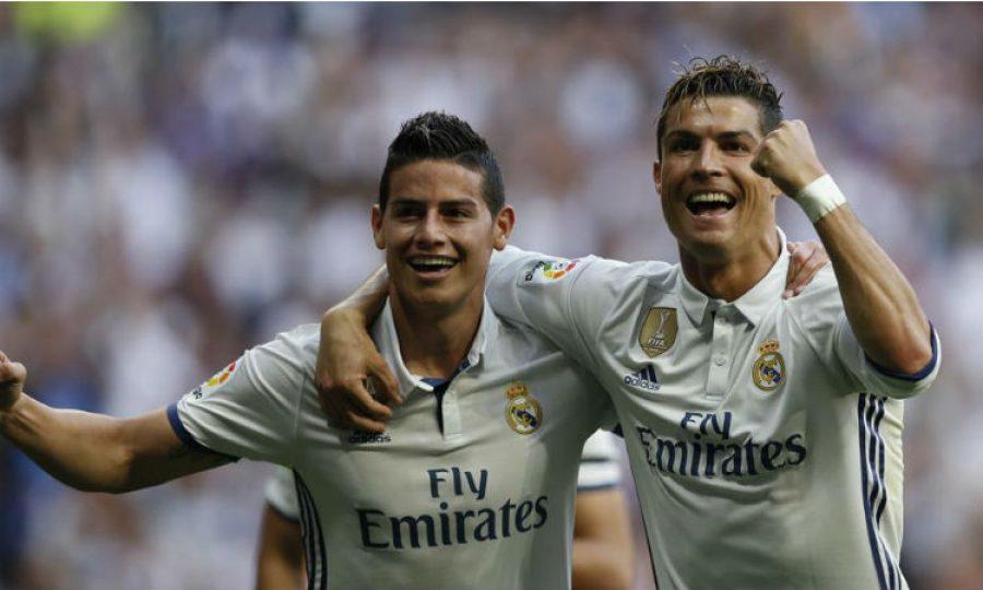 James Rodríguez felicitó así a Cristiano Ronaldo por su cumpleaños