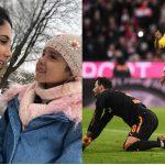 Daniela y Salomé acompañaron a James en el partido del Sevilla contra el Bayern