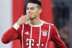 La curiosa manera en la que James se ganó a la hinchada del Bayern Múnich