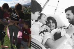 Messi presentó al mundo la carita de su tercer hijo. ¡Qué hermosa familia!