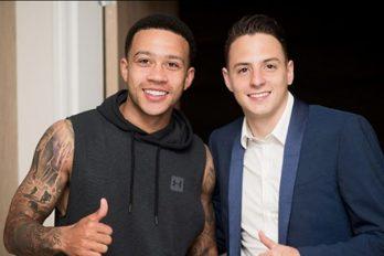 Memphis Depay, futbolista del Manchester United, estuvo presente en el bautizo del hijo de Santiago Arias