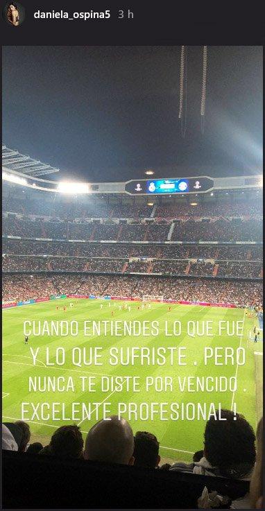 El mensaje de Daniela Ospina por el partido de James ¡Increíble!