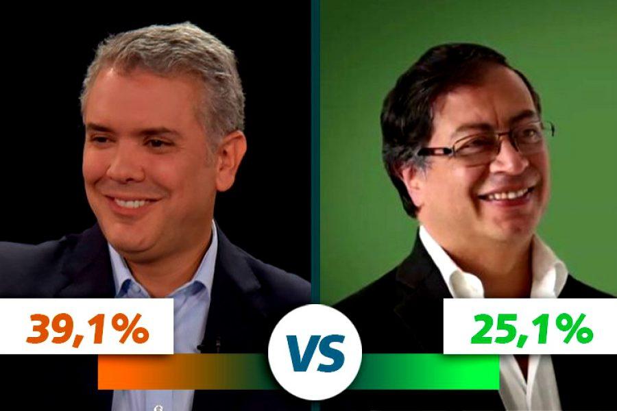 Duque y Petro en segunda vuelta presidencial, a pesar de la diferencia los dos tienen grandes posibilidades