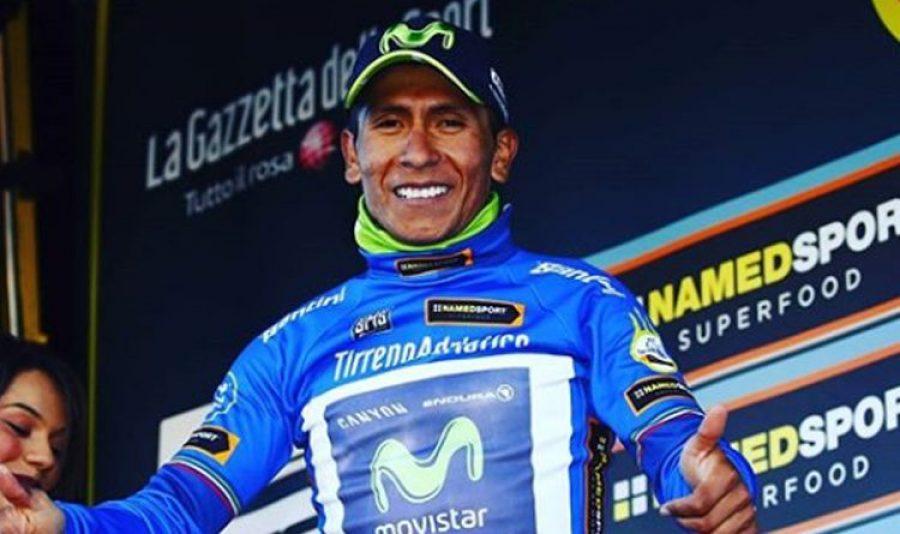 Con esta foto Nairo Quintana demostró su admiración por un ídolo