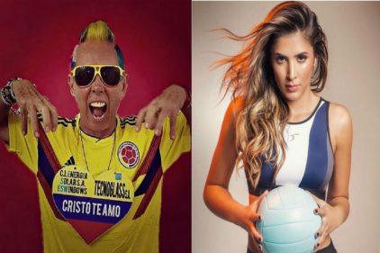 El Cole viajó a Rusia con Daniela Ospina para ver la victoria de la Selección