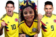 James, Falcao y Salomé se fajaron mostrando su orgullo de ser colombianos, ¡así se canta el himno!