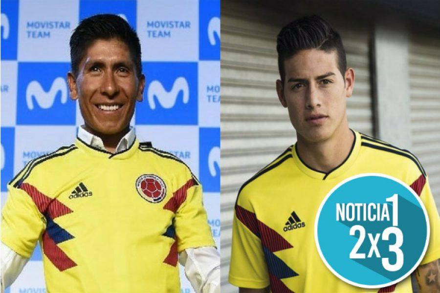 El mensaje de apoyo de Nairo Quintana para James Rodríguez. ¡Seguimos en la lucha!