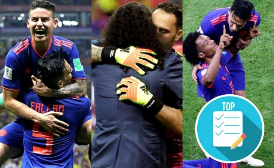 Los momentos más emotivos del triunfo de la Selección Colombia ante Polonia en la Copa Mundo. ¡Pura emoción!