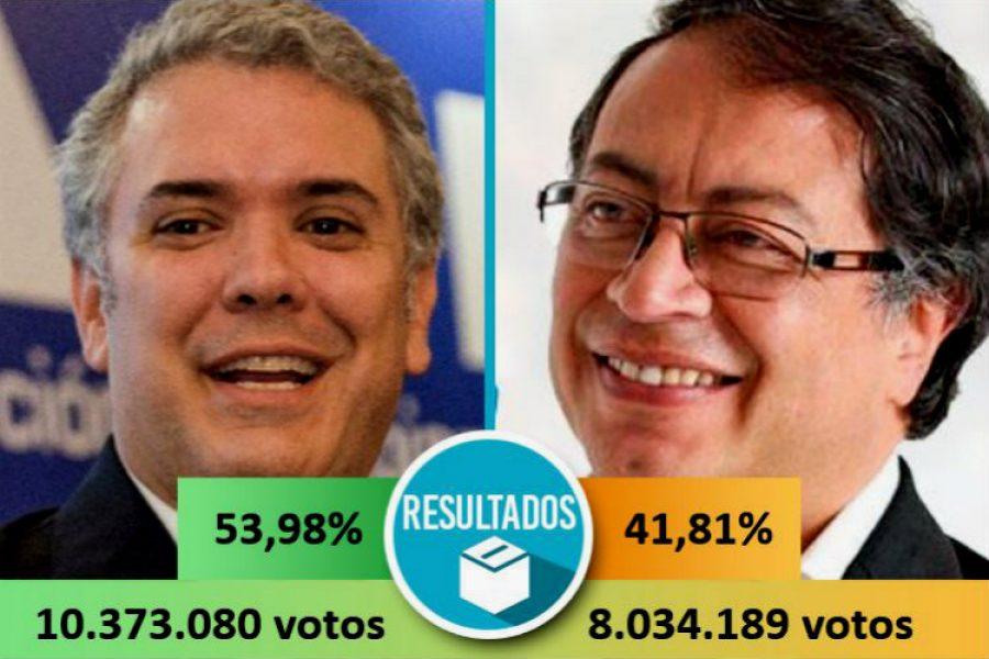 Iván Duque Márquez es elegido como nuevo presidente de la República de Colombia