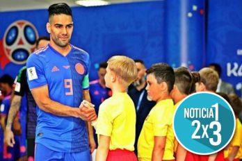 En Rusia un niño colombiano sorprendió a Falcao con una trova dedicada a su talento como jugador. ¡Es encantador!