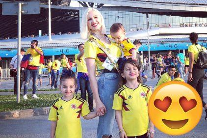 Lorelei Taron envió un mensaje de aliento a su esposo, Radamel Falcao y a la Selección Colombia