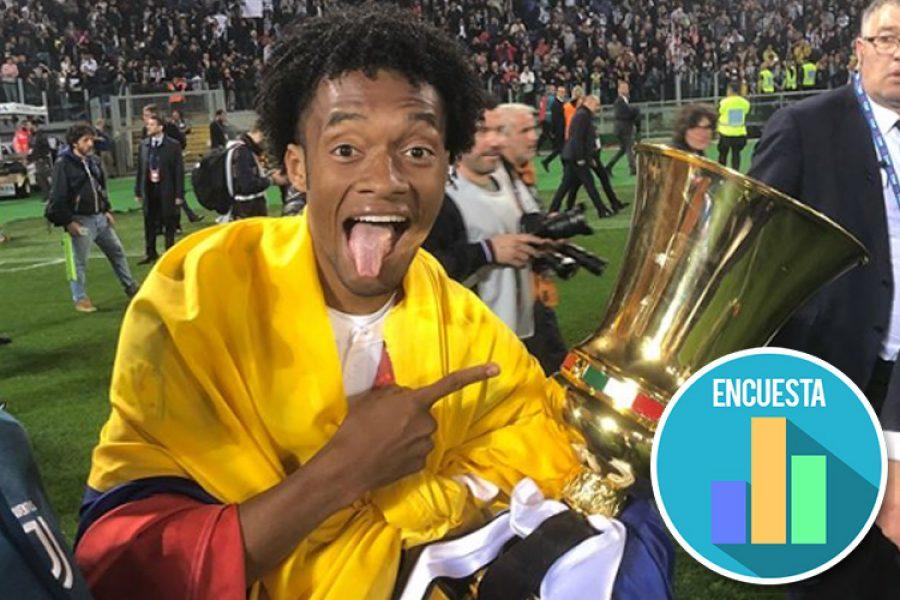 Juan Guillermo Cuadrado creó una encuesta para escoger su nuevo número con la Juventus
