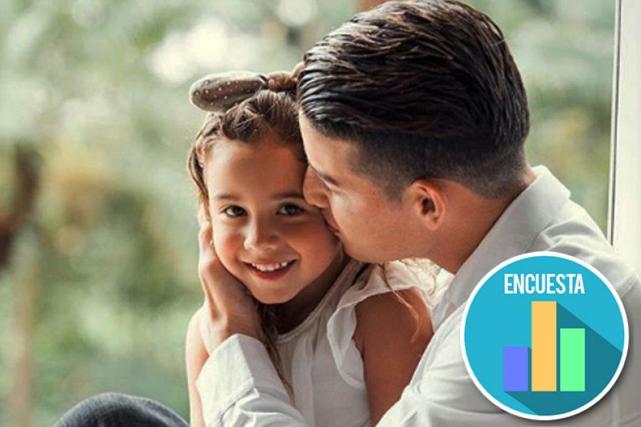 Hija de James Rodríguez enseña como celebrar un magnifico gol. ¡Se lo heredó a su padre!