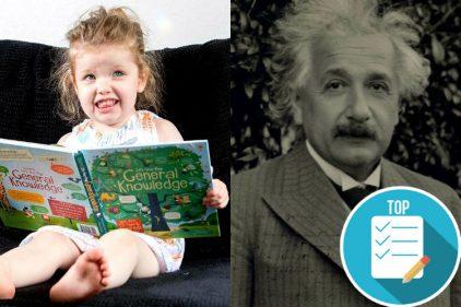 La niña de tres años que tiene un coeficiente intelectual superior al de Albert Einstein
