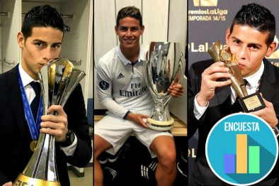 James Rodríguez es el futbolista colombiano que hace historia por ser el ganador de la mayor cantidad de títulos