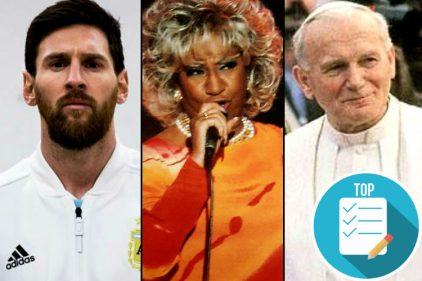 Conoce qué tiene en común Lionel Messi con la cantante Celia Cruz y el Papa Juan Pablo II