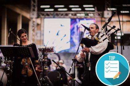 Vive el sonido legendario de la gaita escocesa en Bogotá